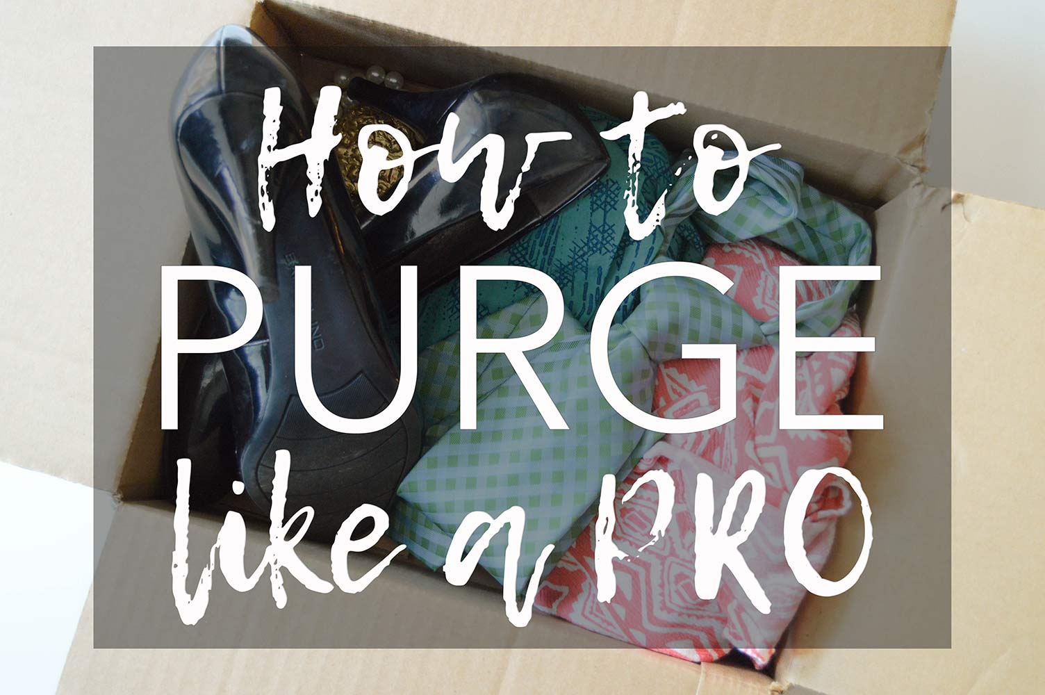 Tips for how to purge and organize your home like a pro. Steps for sorting into piles and purging rules to help you eliminate clutter and get rid of stuff.