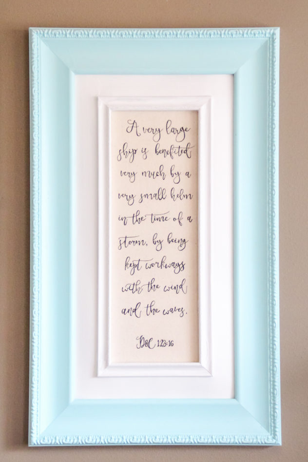 DIY nautical home decor scripture