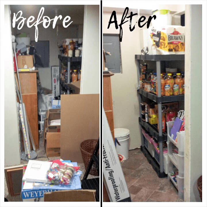 Food storage organization before and after