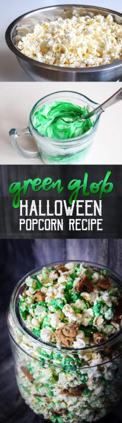 Green Glob Halloween Popcorn Recipe