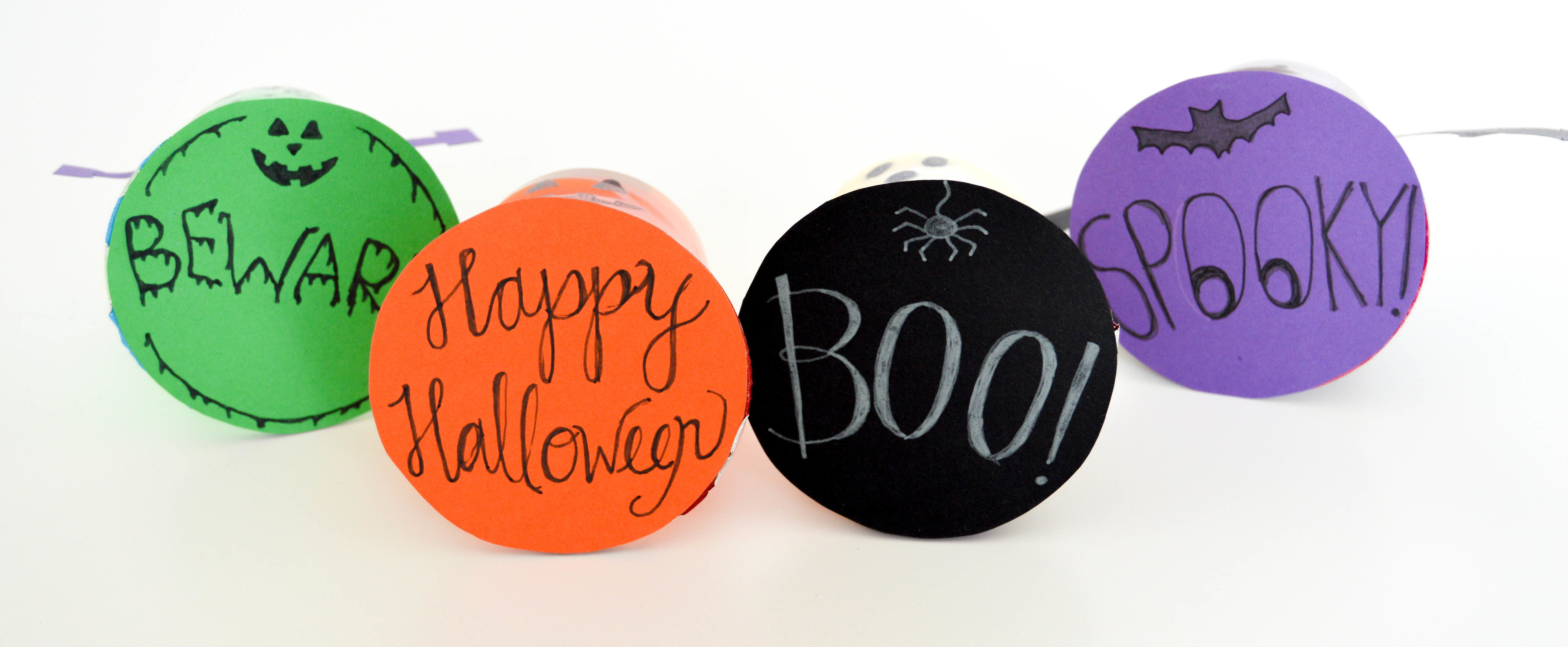 Halloween Pudding Cups & Jello Cups | Beware! Happy Halloween! Boo! Spooky! Tags for my ghost, pumpkin, bat, and Frankenstein pudding cups and jell-o cups.