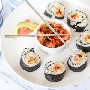 Best Korean Kimchi Sushi Roll Recipe