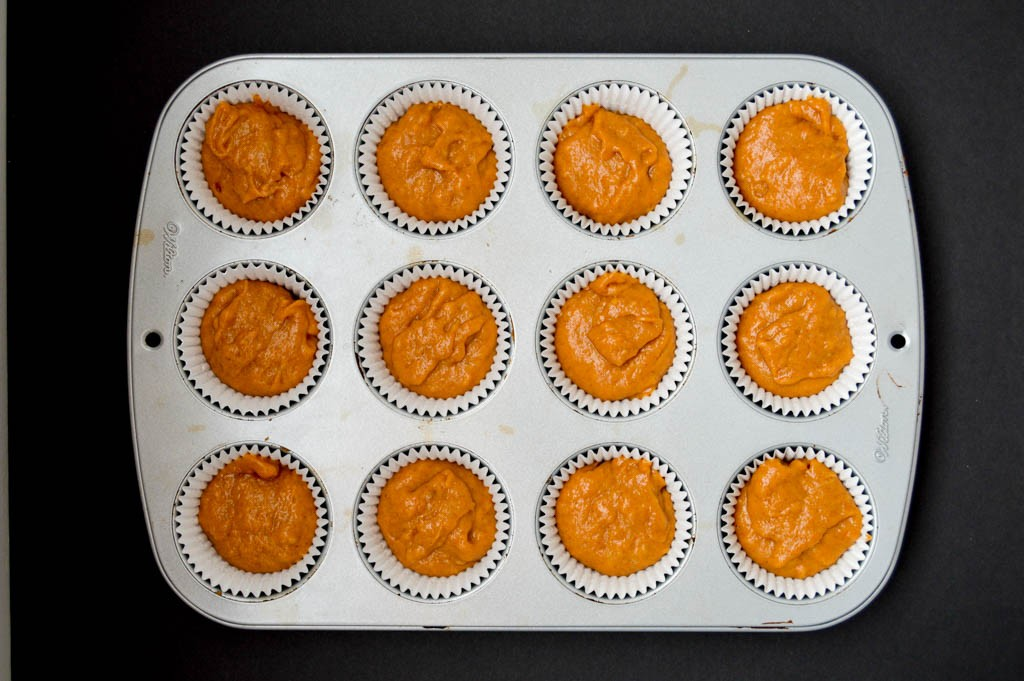 Moist Pumpkin Muffins Batter - Ingredients list and step by step directions to bake the best moist pumpkin muffins recipe.