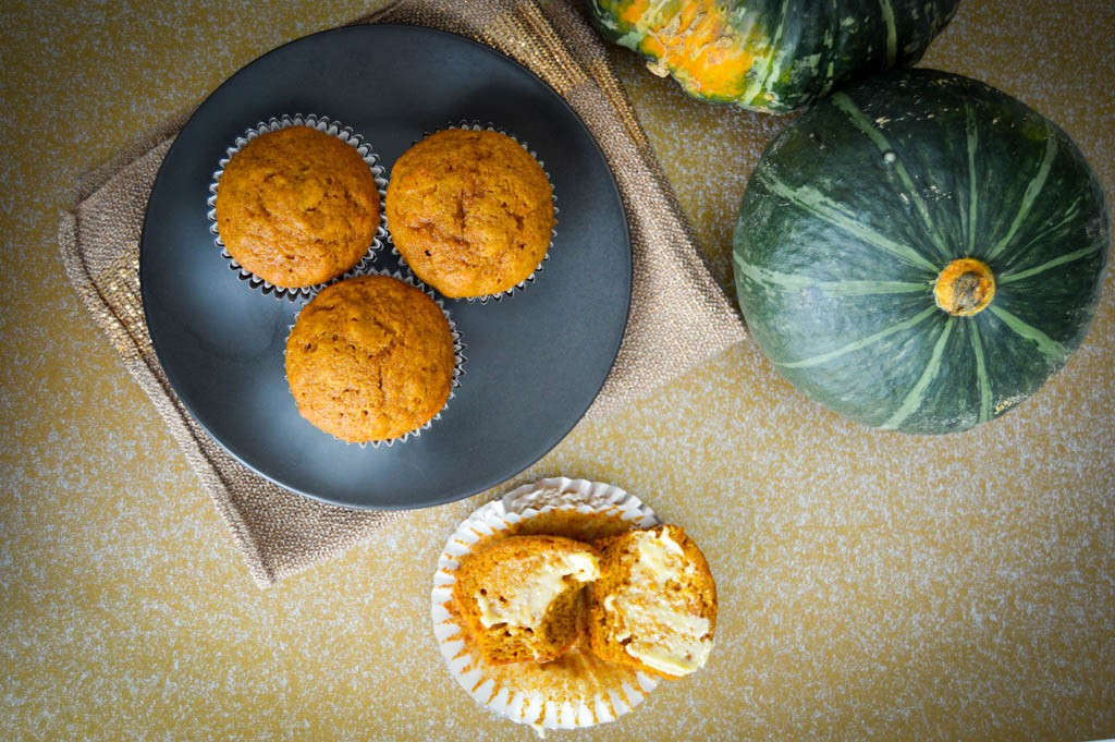 Moist Pumpkin Muffins Recipe with Gold 'n Soft Buttery Smear
