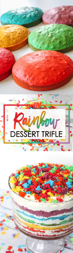 Rainbow Dessert Trifle Recipe and Directions