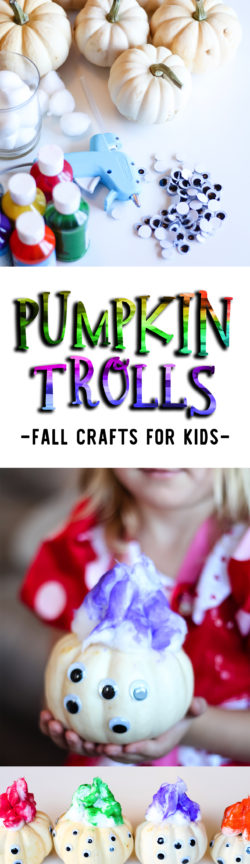 Pumpkin Trolls Kids Craft for Halloween or Fall | a fun and easy craft for kids who love Trolls