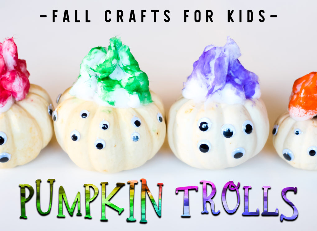 Pumpkin Trolls Kids Craft for Halloween or Fall