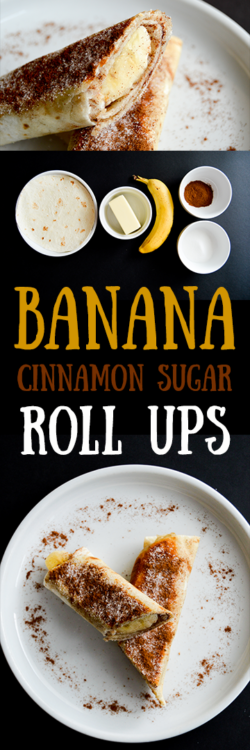 Banana cinnamon sugar tortilla roll ups recipe inspired by churros. These easy banana churro pinwheels make a tasty snack, appetizer, or treat for Cinco de Mayo. Simple 5 ingredient recipe that the kids will love!
