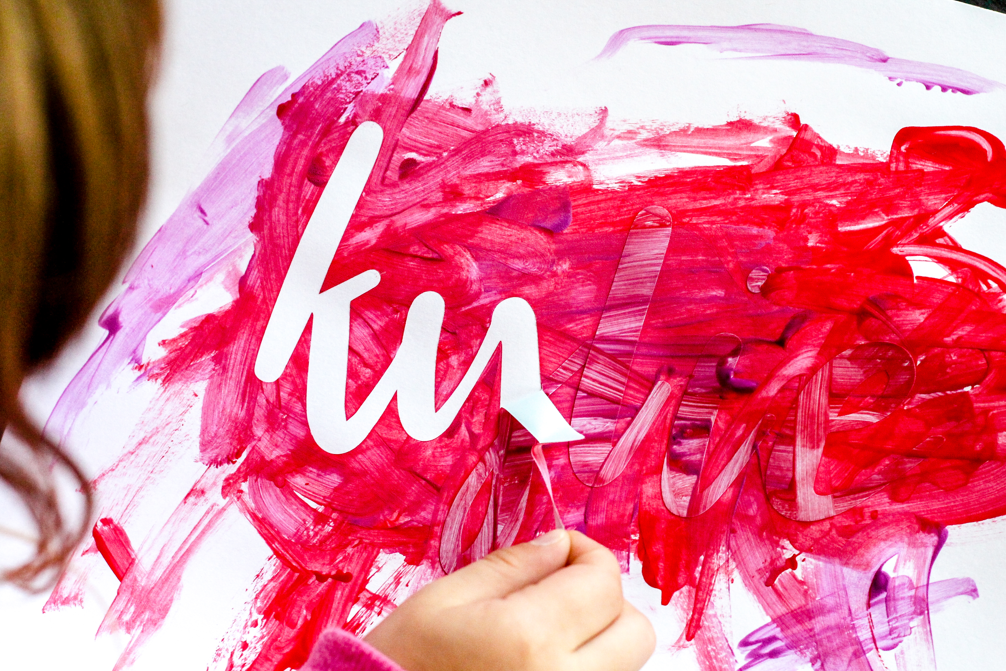 Vinyl Name Paint Art Crafts for Kids