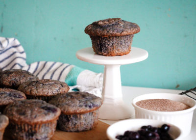 moist blueberry banana muffins recipe - quick and easy