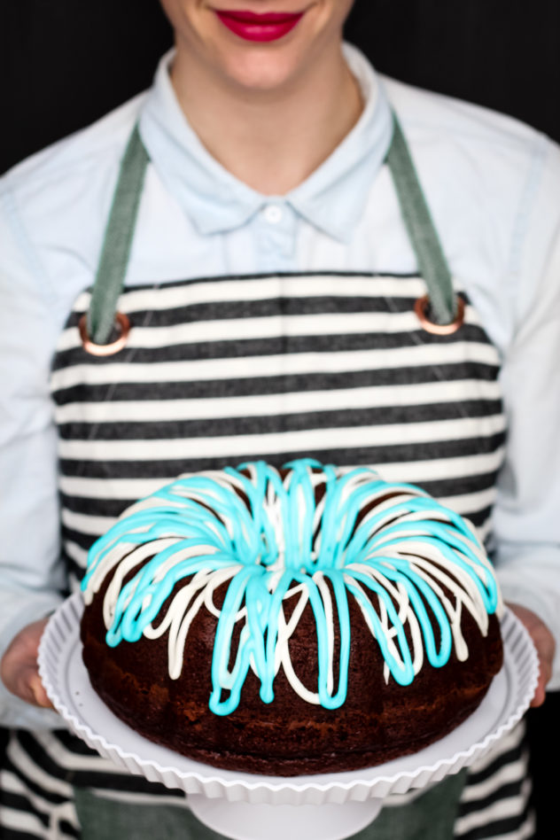 Party Checklist for the Big Game chocolate bundt cake recipe