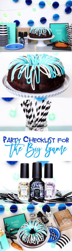 Party Checklist for the Big Game | food, decoration, invitation, ambiance, and clean up idea for hosting your memorable football party with family and friends.