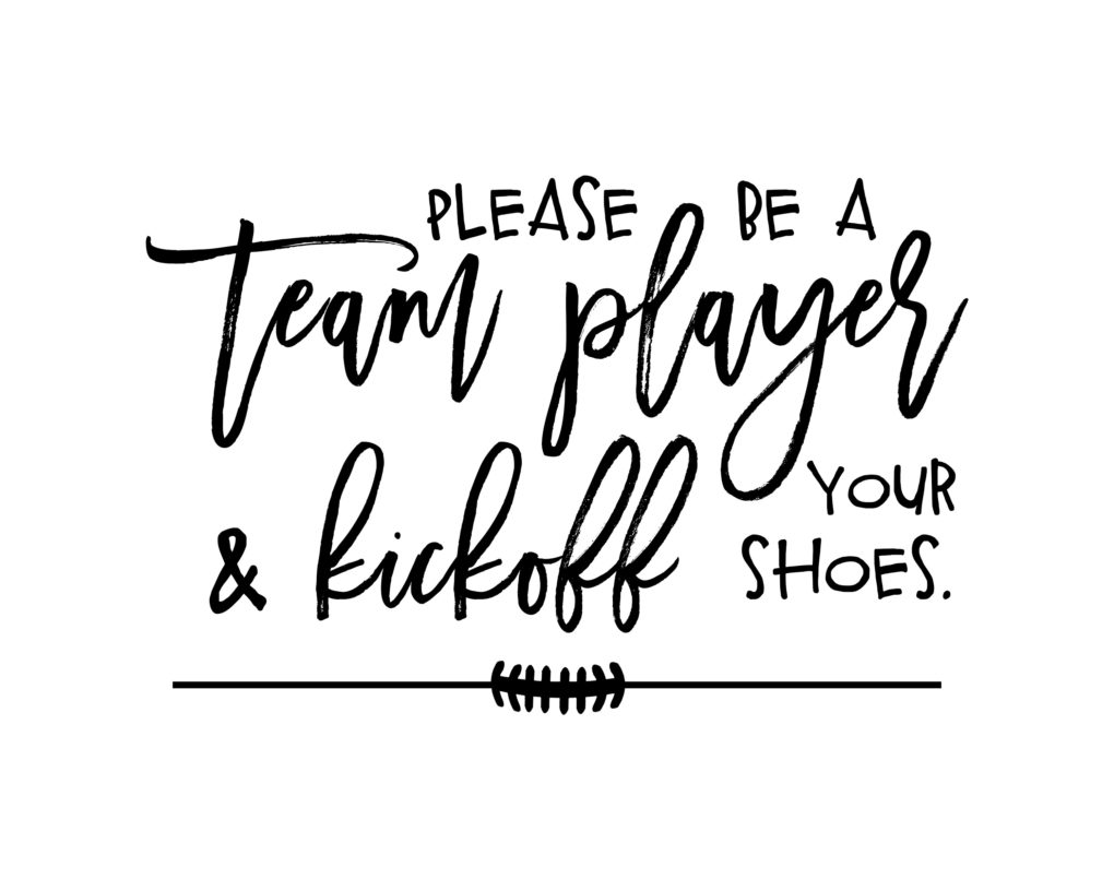 Poo Pourri The Big Game Remove Shoes Sign