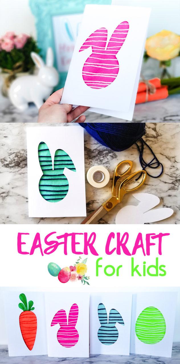Spring Felt Amp Yarn Card Easter Craft For Kids The Diy
