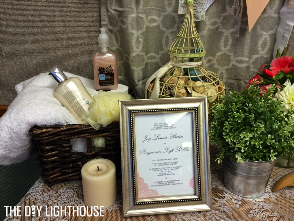 DIY Bed and Bath Themed Bridal Shower on a Budget