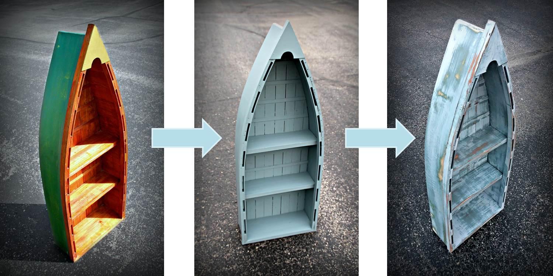 Coastal Decor Is Trending Boat Bookshelf Makeover The Diy
