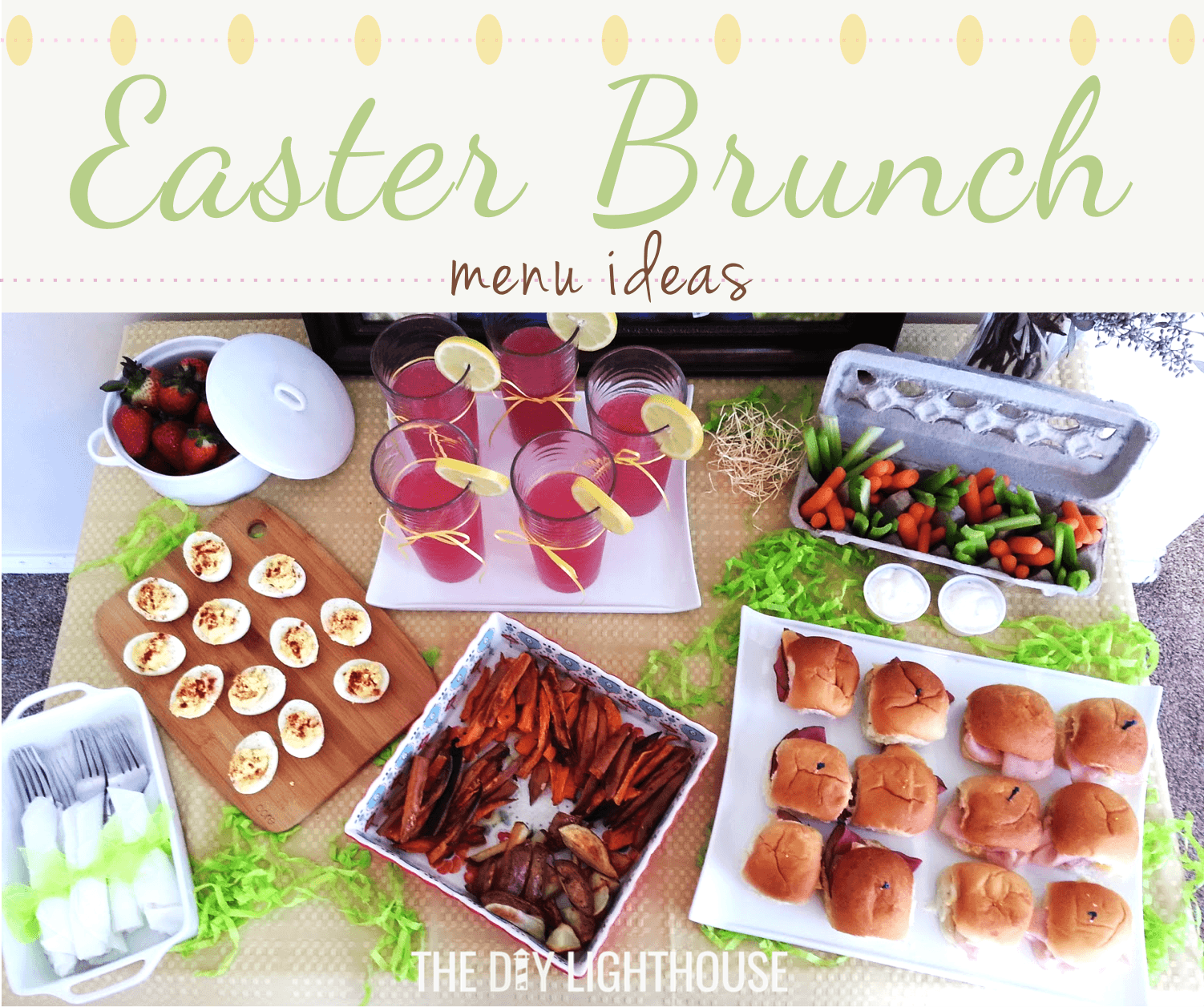easter brunch menu ideas - the diy lighthouse