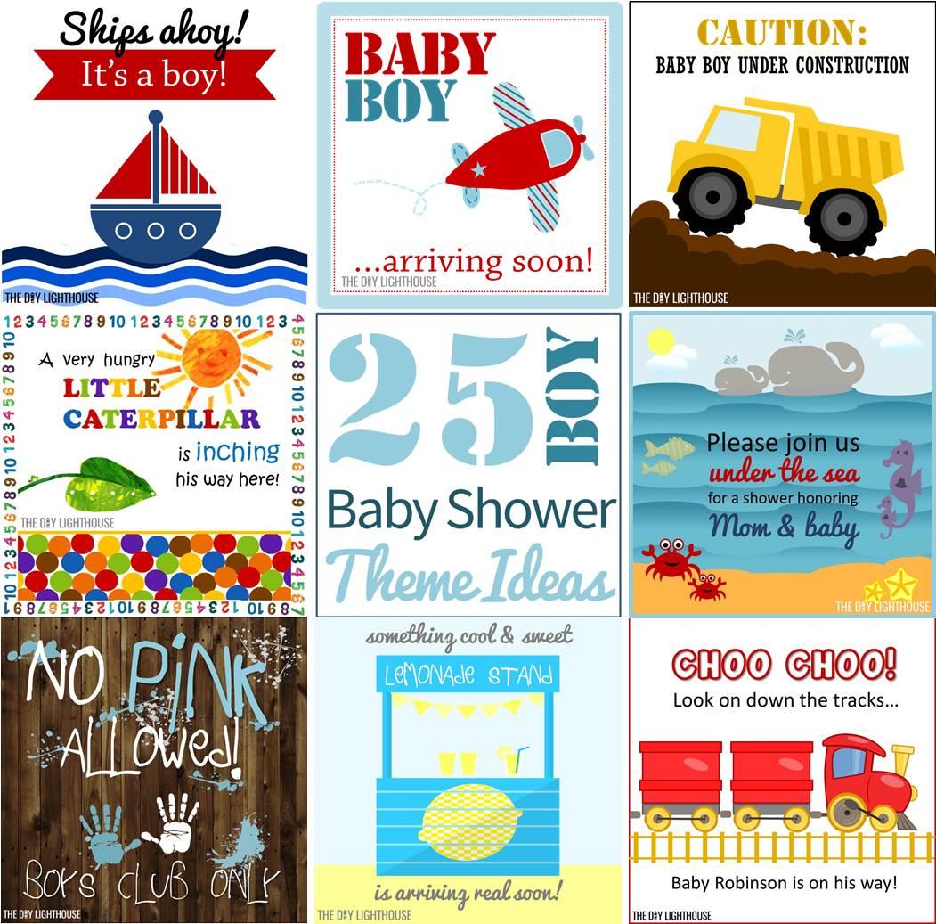 25 {Boy} Baby Shower Theme Ideas - The DIY Lighthouse