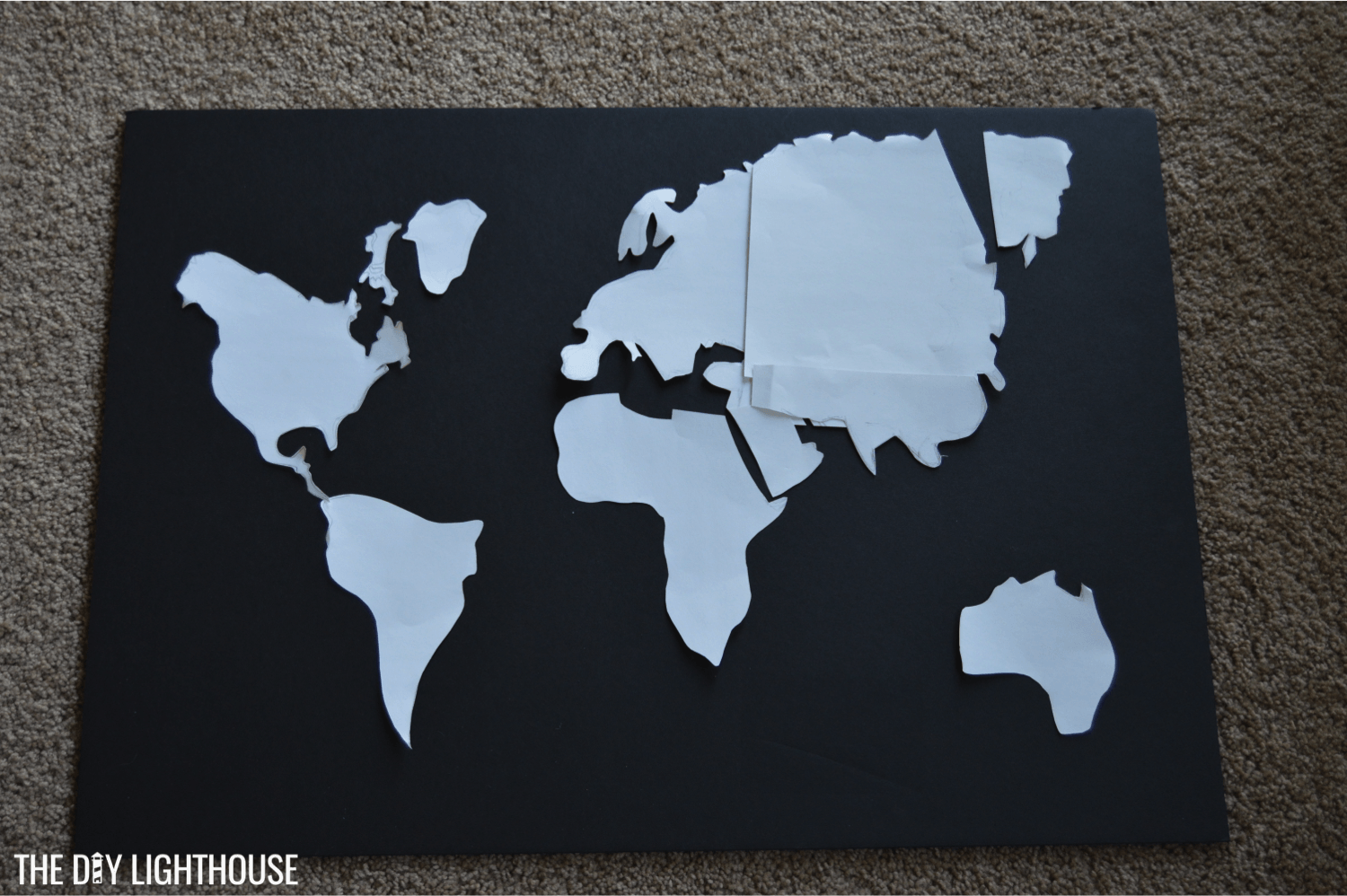 How to make a DIY World Map