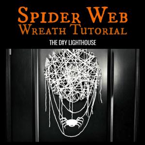 halloween spider web wreath tutorial