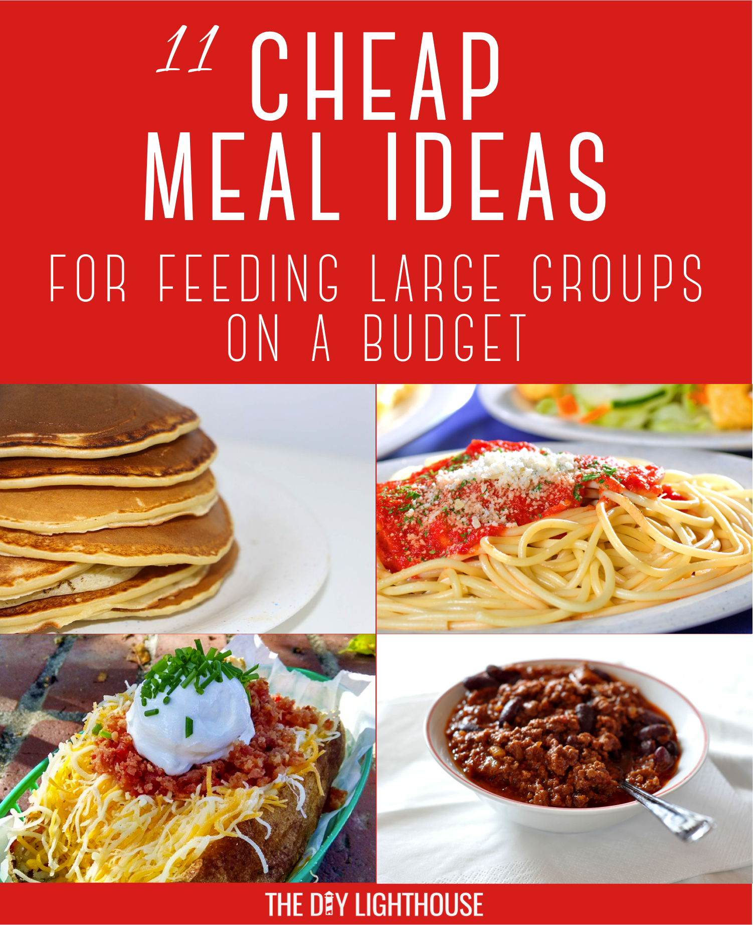 Cheap meals for feeding large groups cheap meal ideas on a budget cheap meals forumfinder Images