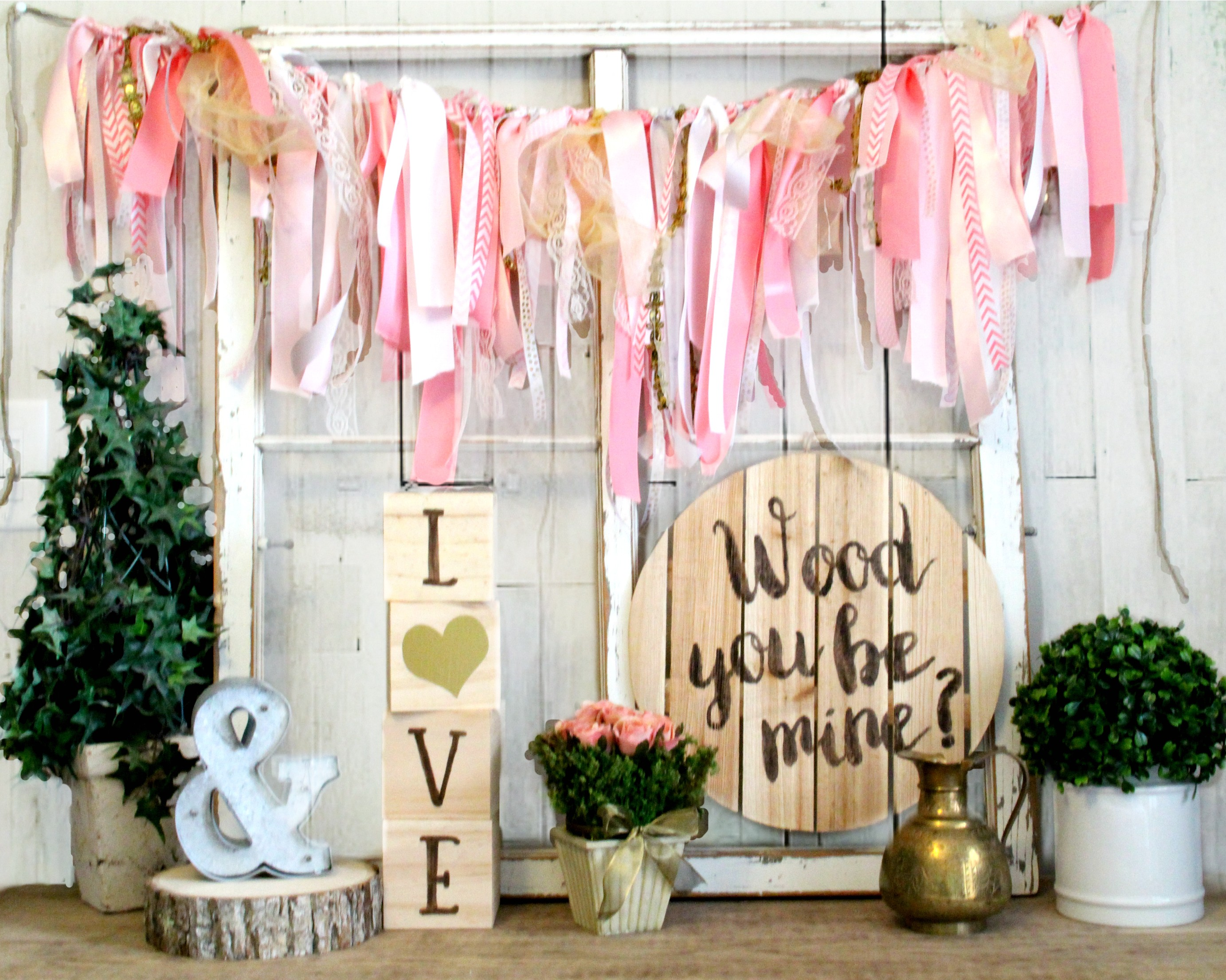 Rustic Valentines Day Decor - Wood You Be Mine? Wall Hanging