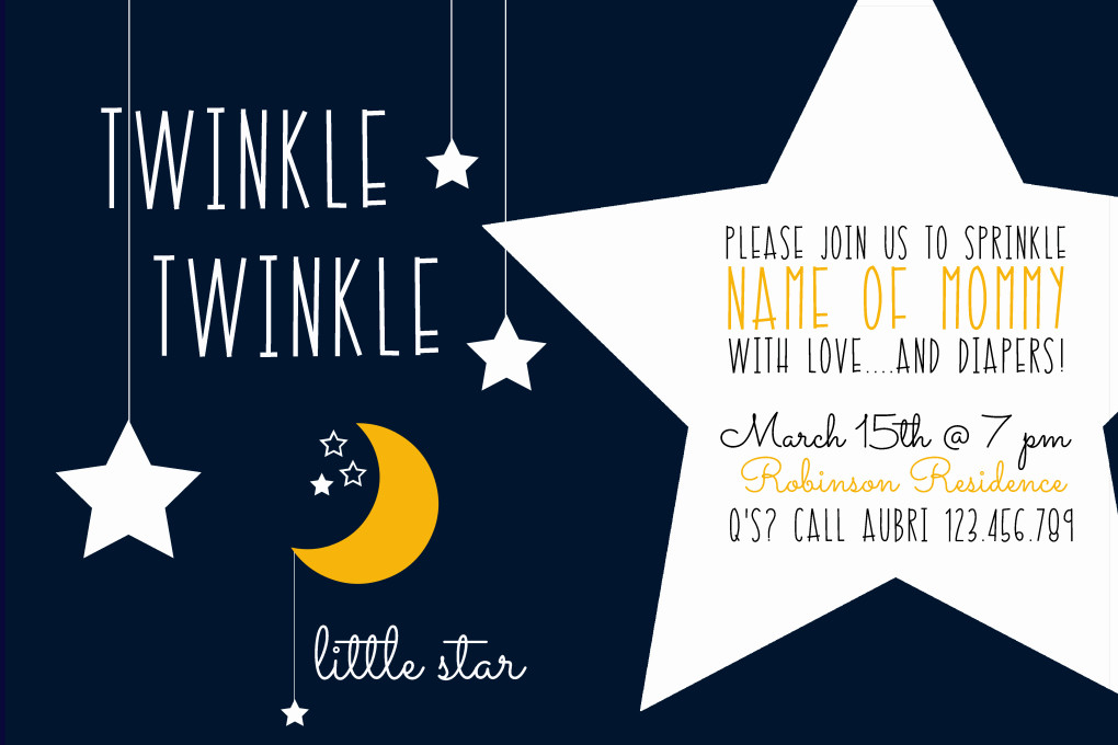 twinkle twinkle little star baby shower the diy lighthouse