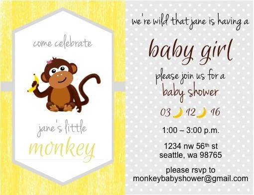 Monkey Themed Baby Shower On A Budget The Diy Lighthouse