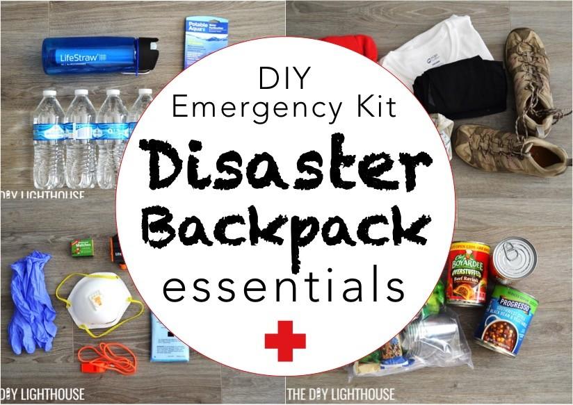 Diy Disaster Backpack Emergency 72 Hour Kit The Diy
