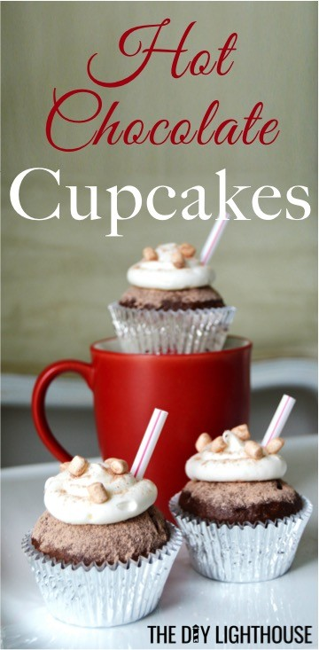 easy-hot-chocolate-cupcakes-box-mix-recipe & Easy Hot Chocolate Cupcakes (Box Mix Recipe) - The DIY Lighthouse