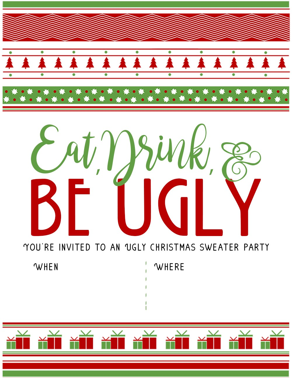 Ugly Christmas Sweater Party Invite.Ugly Christmas Sweater Party Invitation 1 The Diy Lighthouse