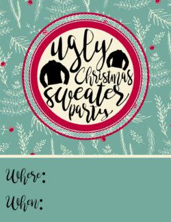 Ugly Christmas Sweater Party Ideas Free Invitations The Diy