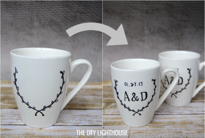 81d444a4e25 Diy Sharpie Mugs Wedding Gift Idea The Lighthouse. Diy personalized sharpie  mugs handmade charlotte ...