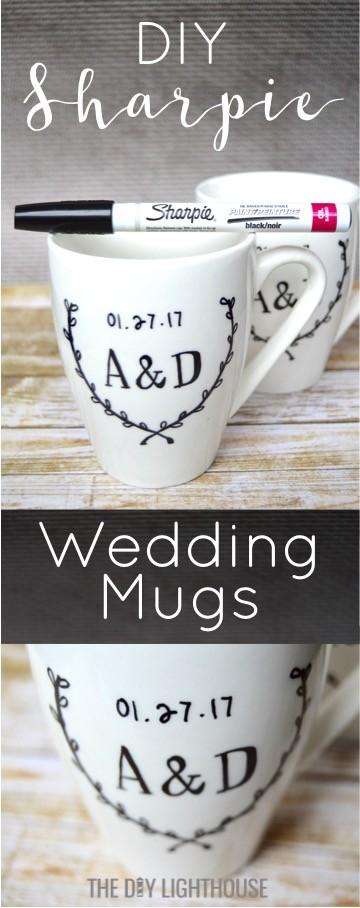 DIY Sharpie Mugs Wedding Gift Idea The DIY Lighthouse