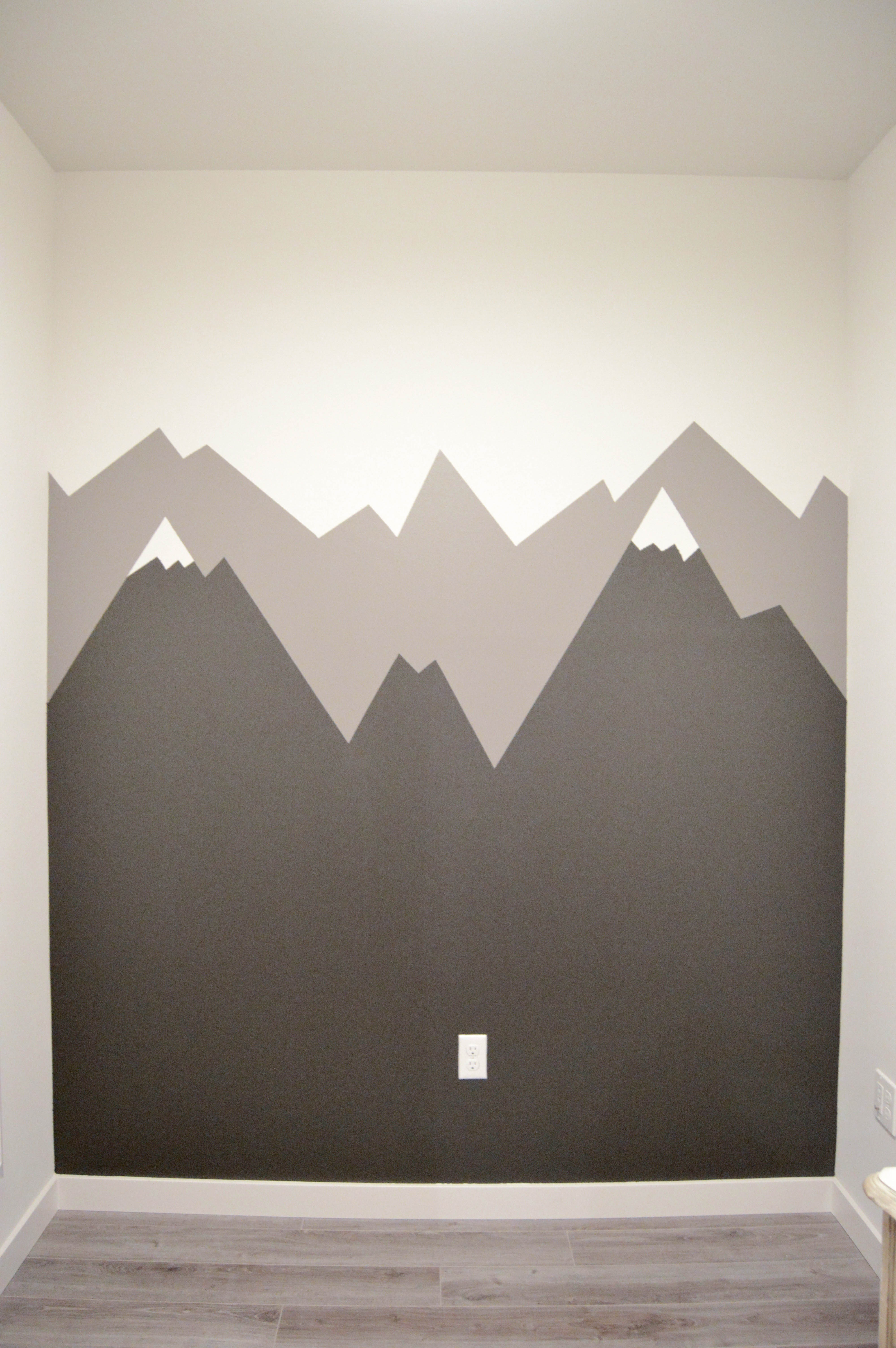 Step 4 Mountain Mural Tutorial Easy And Quick By Diy