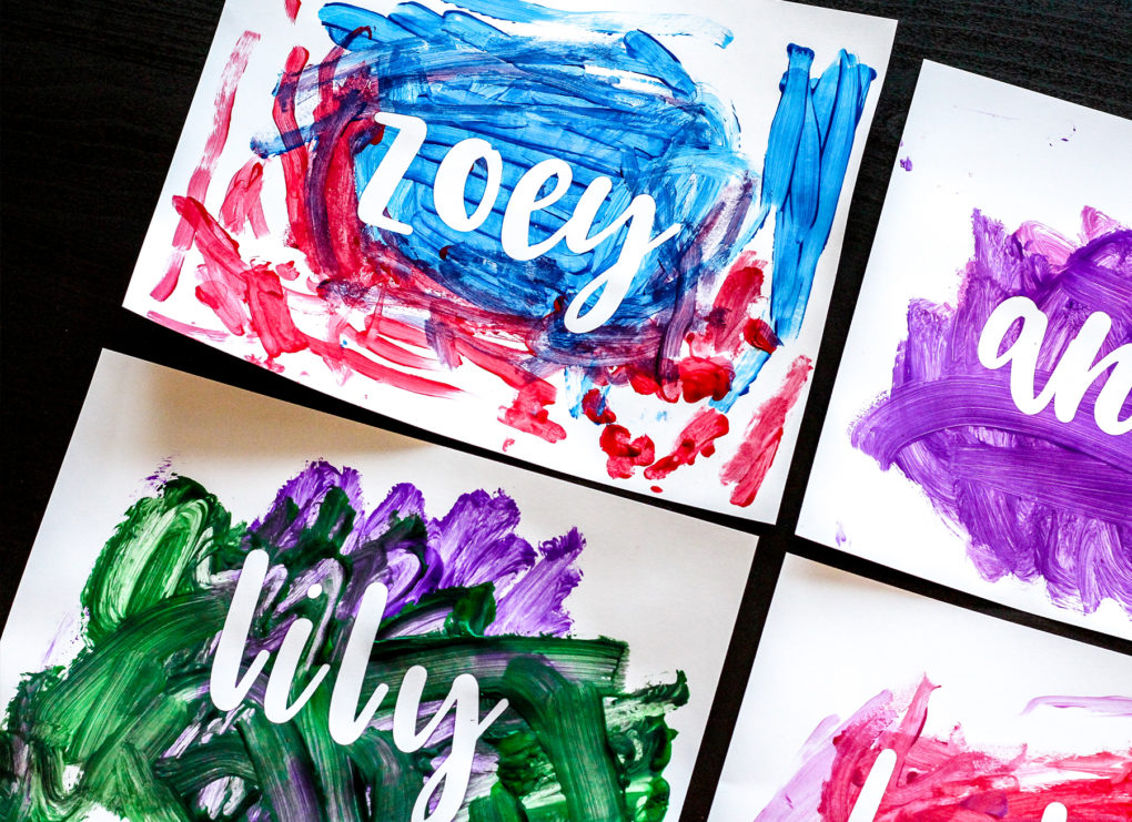 How To Steps Vinyl Name Painting Craft For Kids