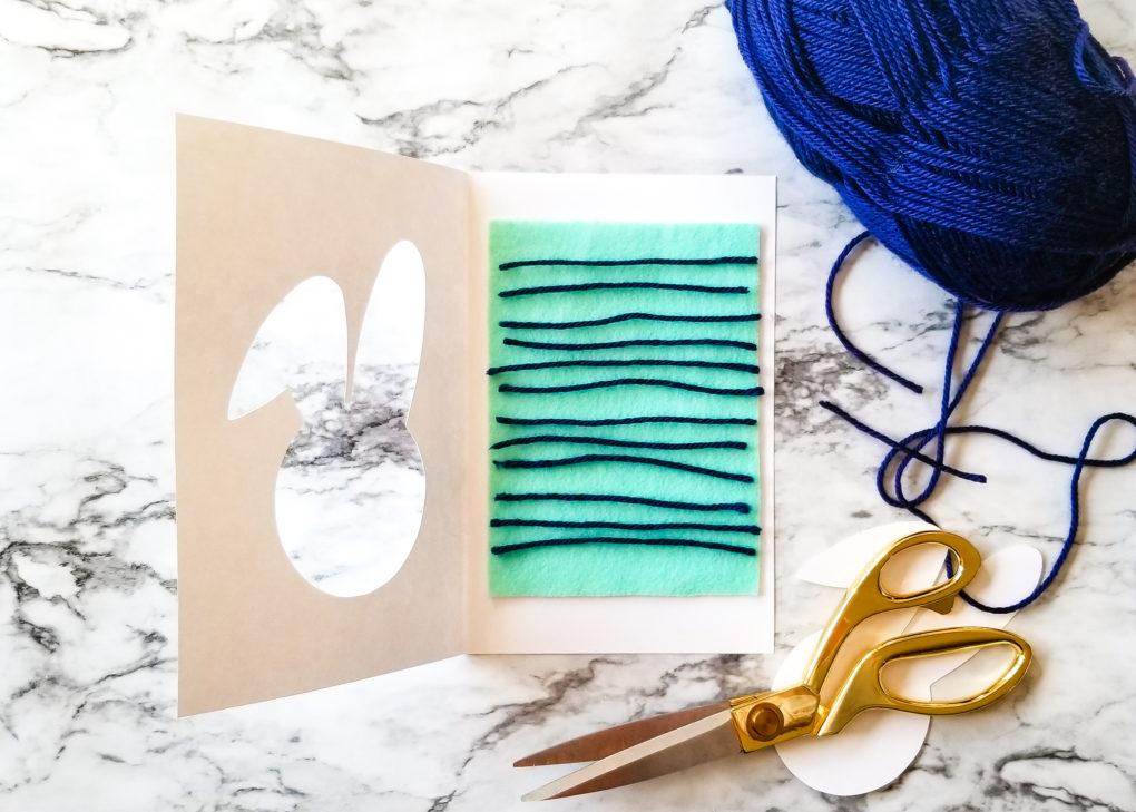 Spring Felt Yarn Card Easter Craft For Kids The Diy Lighthouse