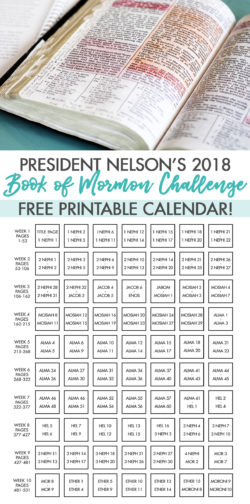 Epic image for president nelson challenge printable