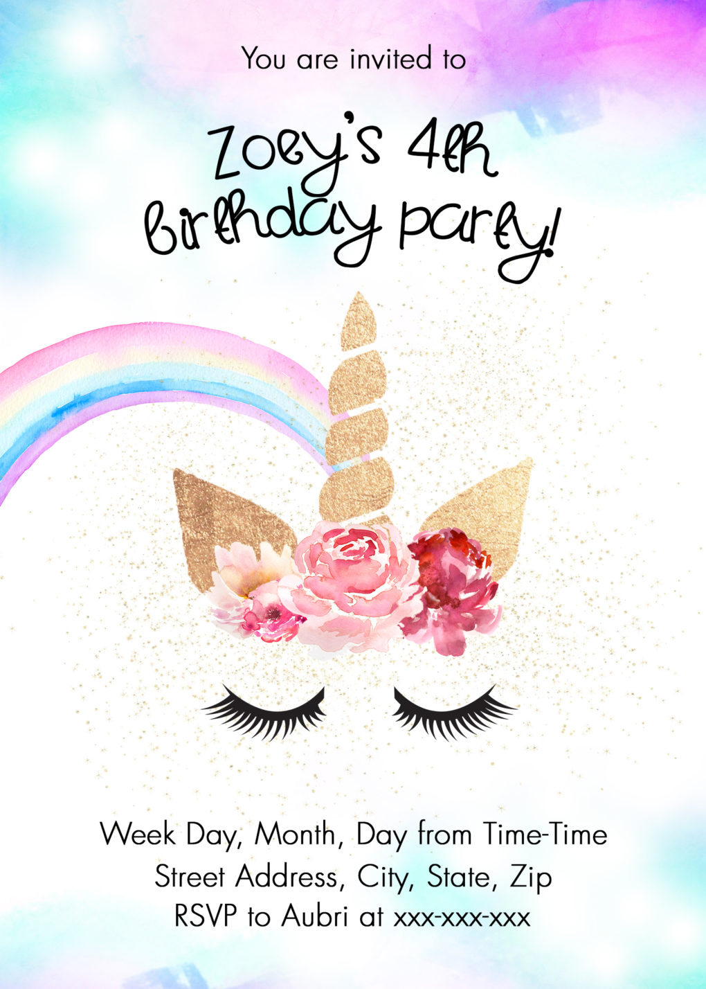 picture about Free Printable Unicorn Invitations titled Unicorn Birthday Get together Guidelines w/ Absolutely free Printable - The Do-it-yourself