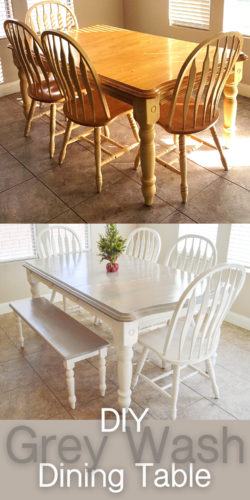 Cool Diy Grey Paint Wash Dining Table Chairs The Diy Lighthouse Inzonedesignstudio Interior Chair Design Inzonedesignstudiocom
